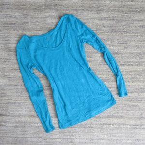 LOFT Blue Long Sleeve Shirt